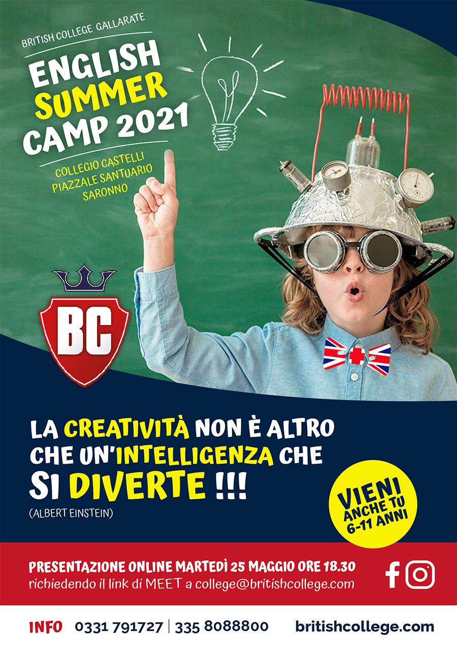volantino English Summer Camp Saronno