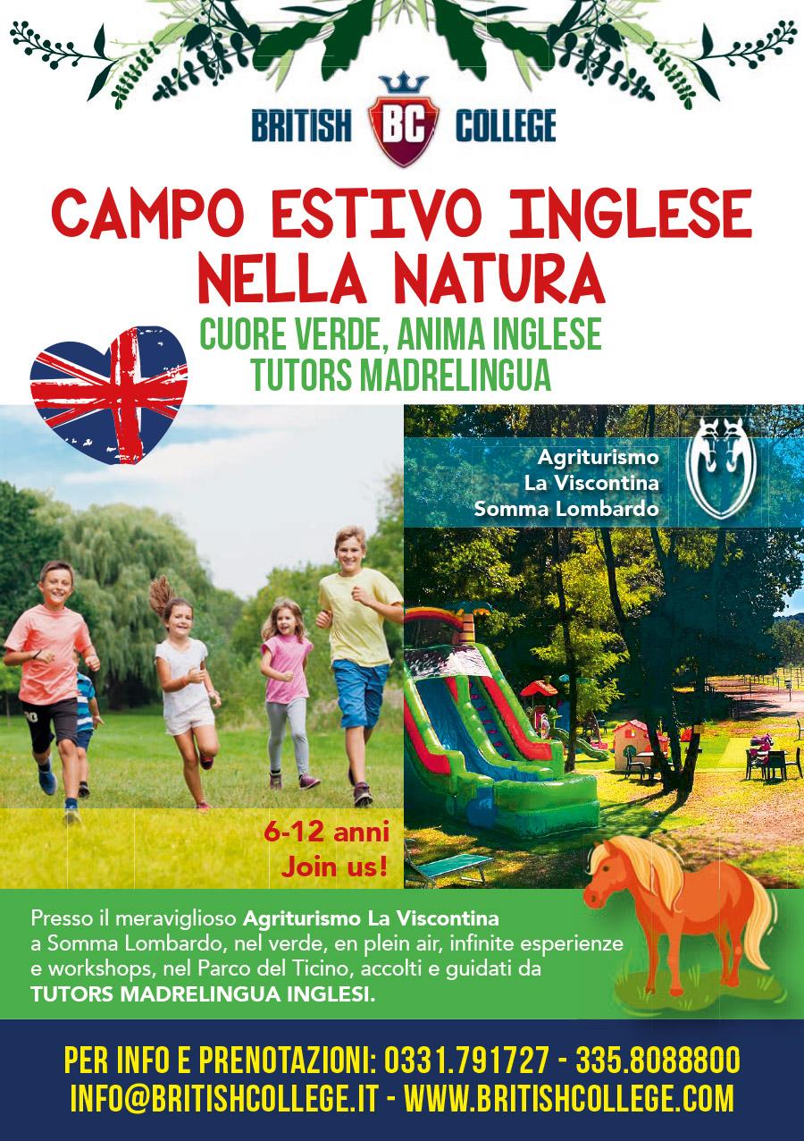 volantino English Summer Camp Somma